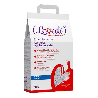 Lovedì Gatto Lettiera Agglomerante Bianca