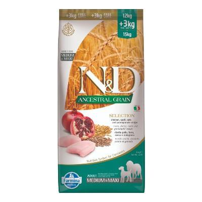 N&D Ancestral Selection Adult Medium Maxi Pollo e Melograno