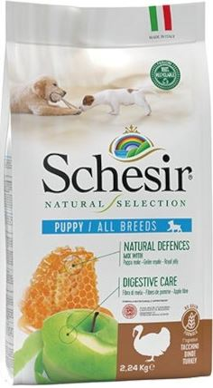 Schesir Natural Selection Puppy All Breeds con tacchino