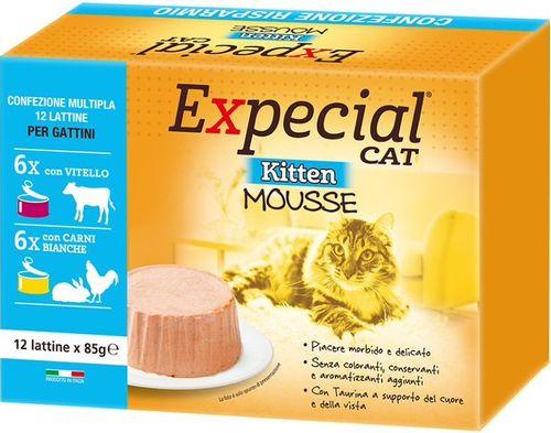 Expecial Kitten Mousse Multipack Vitello Carni Bianche