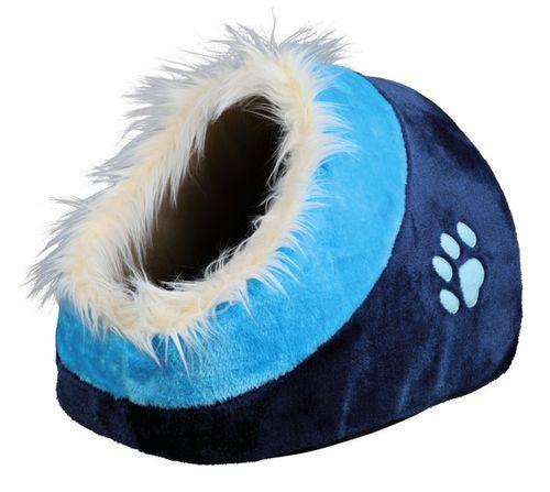 Trixie Cane Cuccia Igloo Minou Peluche Azzurro