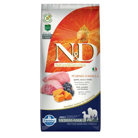 N&D Pumpkin Adult Medium Maxi Agnello Zucca e Mirtillo