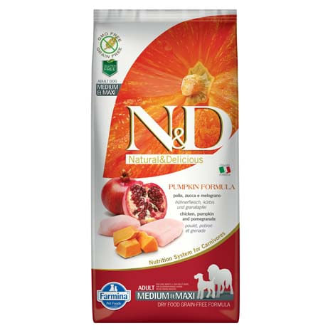 N&D Pumpkin Adult Medium Maxi Pollo e Zucca