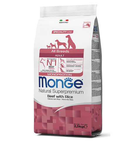 Monge all breeds cane adult manzo riso