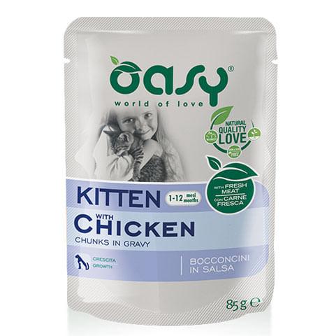 Oasy Gatto Busta Bocconcini Kitten Pollo