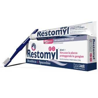 Dentifricio con Spazzolino Extra Soft Restomyl