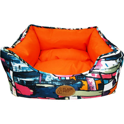 Flair Pet Modern Cane Cuccia Rettangolare Arancione