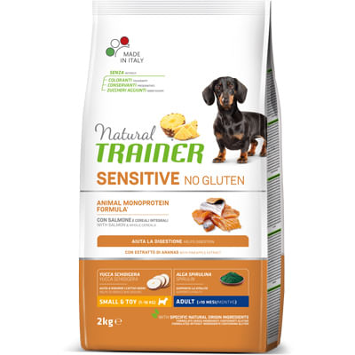 Trainer Natural Sensitive Cane No Gluten Adult Mini Salmone