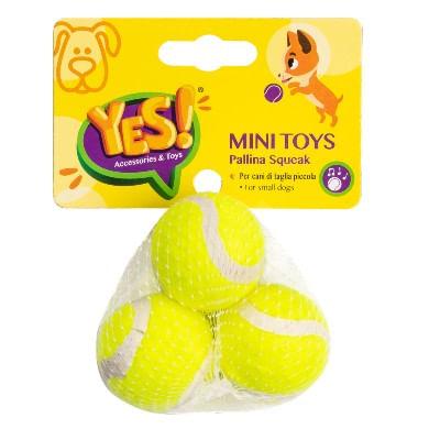 Yes! Mini Toys Cane Pallina Squeak Gialla