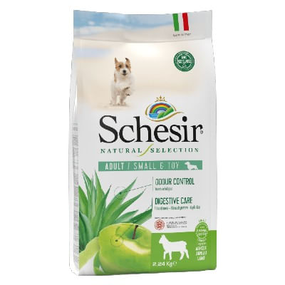 Schesir Natural Selection Adult Small & Toy con agnello