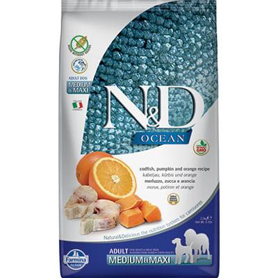 N&D Ocean Adult Medium Maxi Merluzzo Zucca
