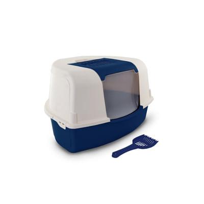 Toilette Trinity Chiusa Angolare con Paletta Blu