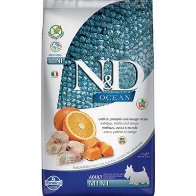 N&D Ocean Adult Mini Merluzzo Zucca e Arancia