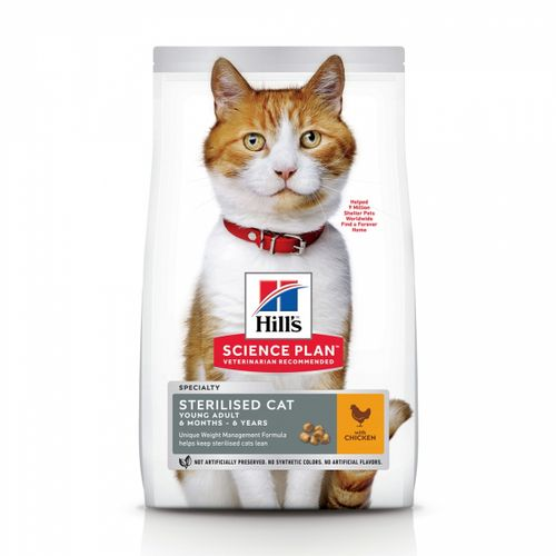 Hill's Science Plan sterilised adult young pollo gatto
