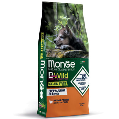 Monge Bwild Puppy Grain Free Anatra