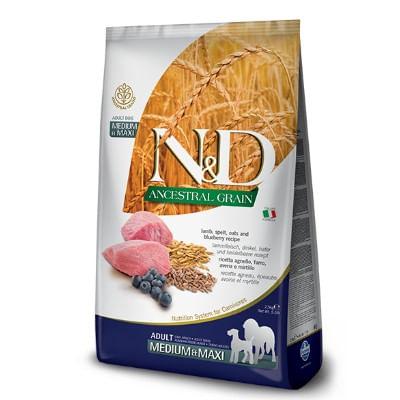 N&D Ancestral Adult Medium Maxi Agnello e Mirtilli