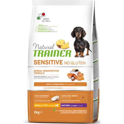 Trainer Natural Sensitive Cane No Gluten Mature Mini Salmone