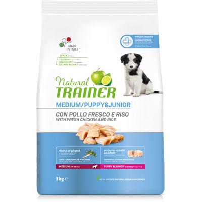 Natural Trainer Puppy&Junior Medium con Pollo e Riso