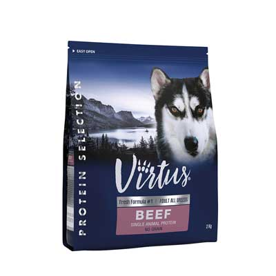 Virtus Dog Protein Selection Adult Manzo No Grain