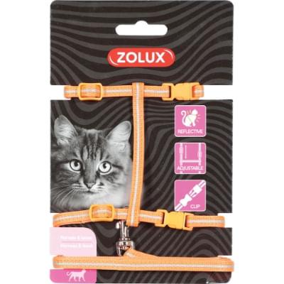 zolux-pettorina-guinzaglio-gatto-arancione