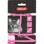 zolux-pettorina-guinzaglio-gatto-rosa