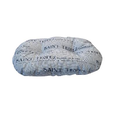 Cuscino Ovale Saint Tropez Blu